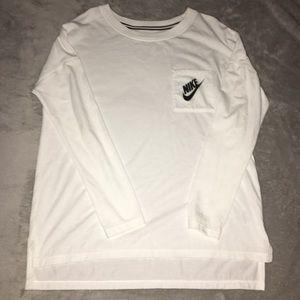 Women's White Nike Long Sleeve